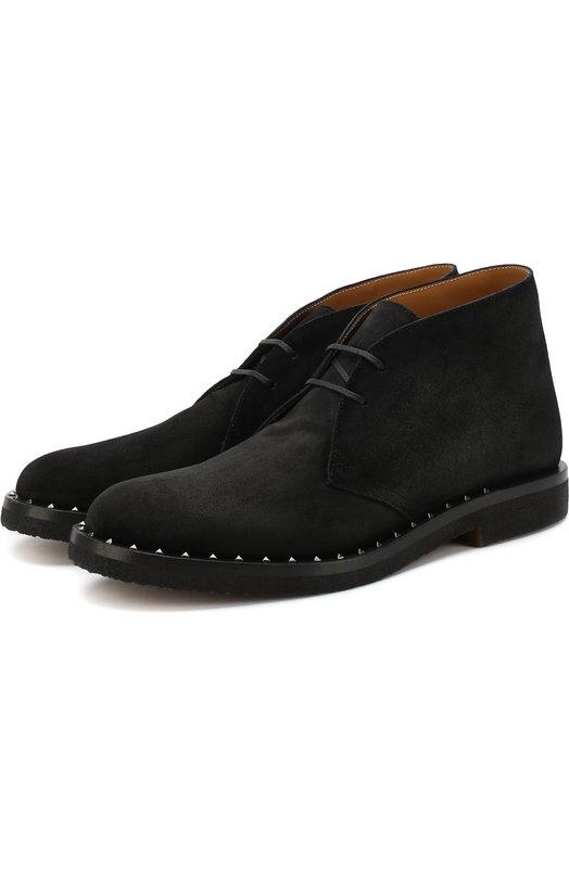 Купить Кожаные ботинки Valentino Garavani Soul Rockstud Valentino, QY2S0A33/VEF, Италия, Черный, Подкладка-кожа: 100%; Подошва-полимер: 100%; Кожа: 100%;