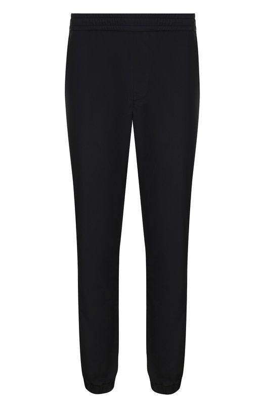 Купить Брюки прямого кроя с манжетами на резинке Versace, A79839/A217561, Италия, Черный, Полиэстер: 100%;