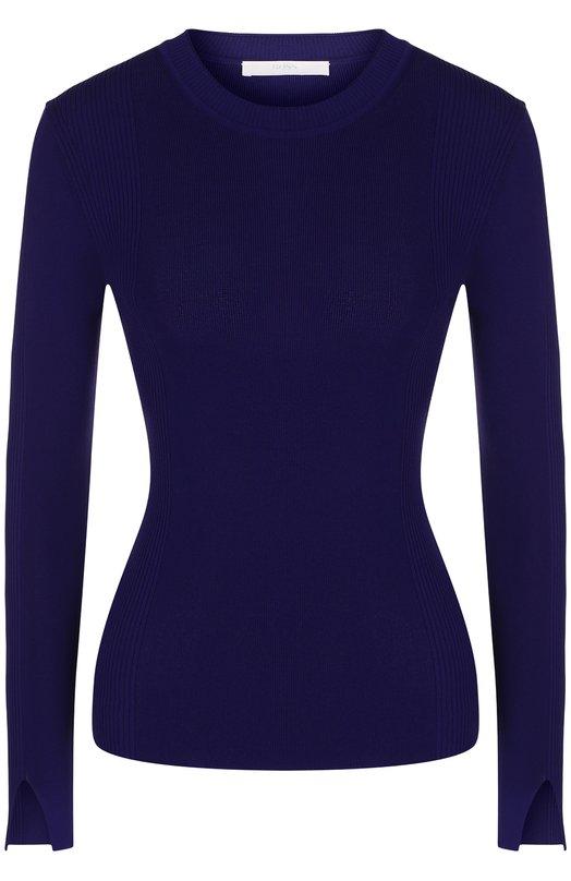 Купить Однотонный пуловер с круглым вырезом BOSS, 50388791, Китай, Фиолетовый, Вискоза: 70%; Полиамид: 30%;