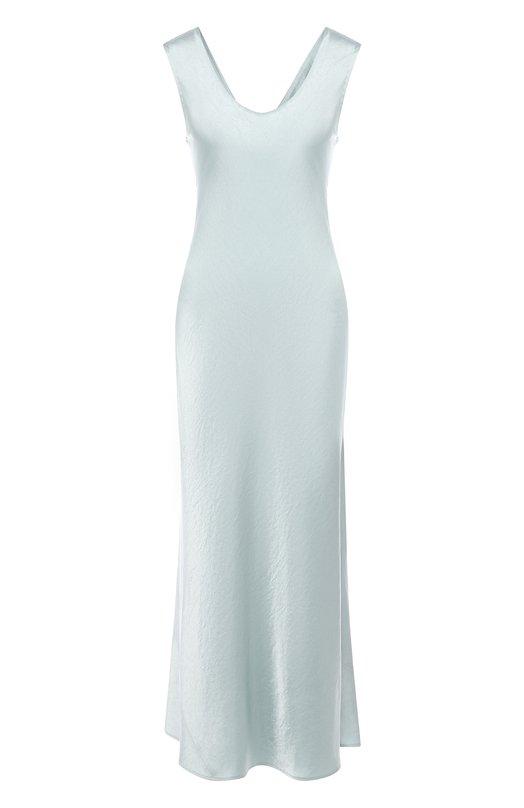 Купить Однотонное приталенное платье-миди Theory, I0209621, Китай, Бирюзовый, Триацетат: 80%; Полиэстер: 20%;