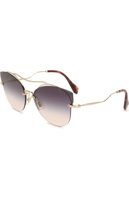Купить Солнцезащитные очки Miu Miu, 52SS-ZVNGR0, Италия, Темно-серый