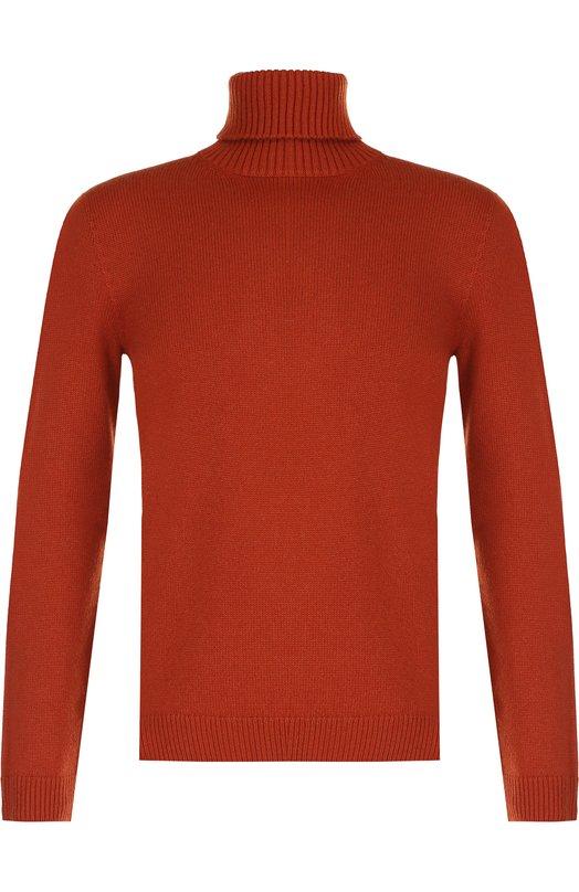 Купить Кашемировый свитер с воротником-стойкой Brioni, UMU30L/07K02, Италия, Оранжевый, Кашемир: 100%;