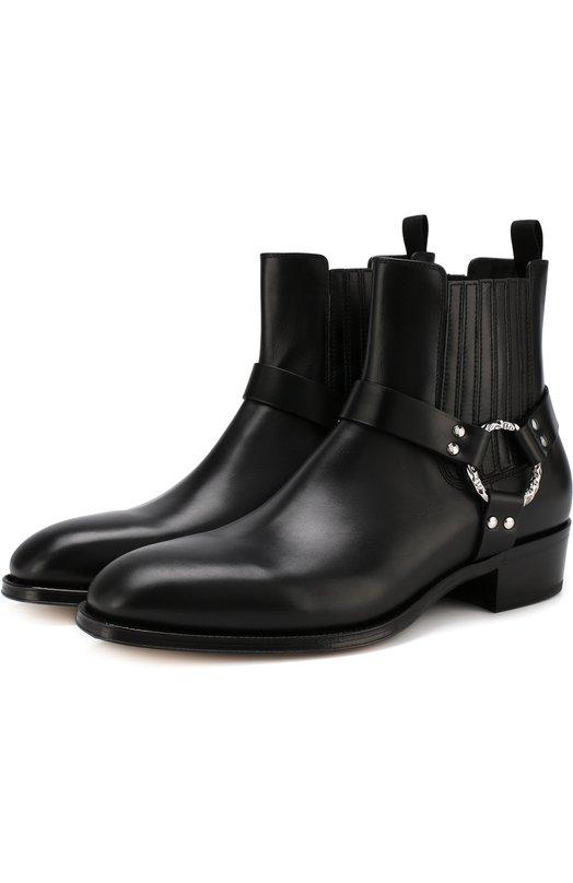 Кожаные челси на устойчивом каблуке Alexander McQueen