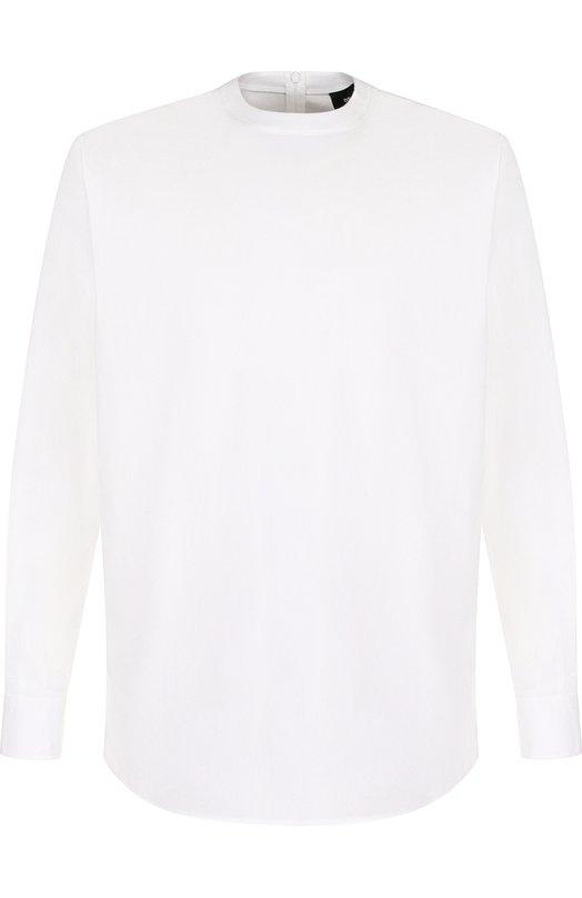 Купить Хлопковая рубашка асимметричного кроя Dsquared2, S74DM0162/S44131, Италия, Белый, Хлопок: 97%; Эластан: 3%;