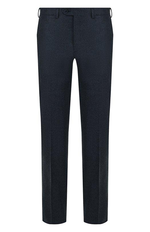 Купить Шерстяные брюки прямого кроя Brioni, RPL810/06AAF/MEGEVE, Италия, Темно-синий, Шерсть: 100%;