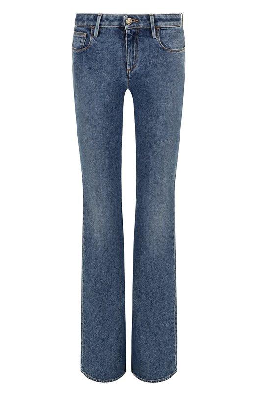 Купить Расклешенные джинсы с потертостями Roberto Cavalli, HQJ233/DS001, Италия, Синий, Хлопок: 98%; Эластан: 2%;