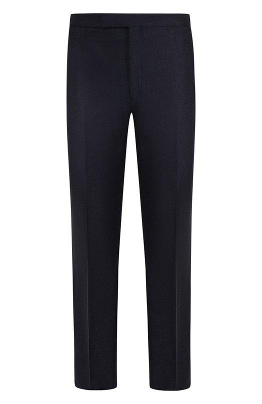 Купить Шерстяные брюки прямого кроя Brioni, RPPU0L/07AI5/DAV0S, Италия, Темно-синий, Шерсть: 100%;
