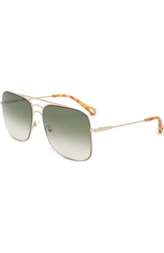 Солнцезащитные очки Chloé, 140S-733, Италия, Серебряный  - купить