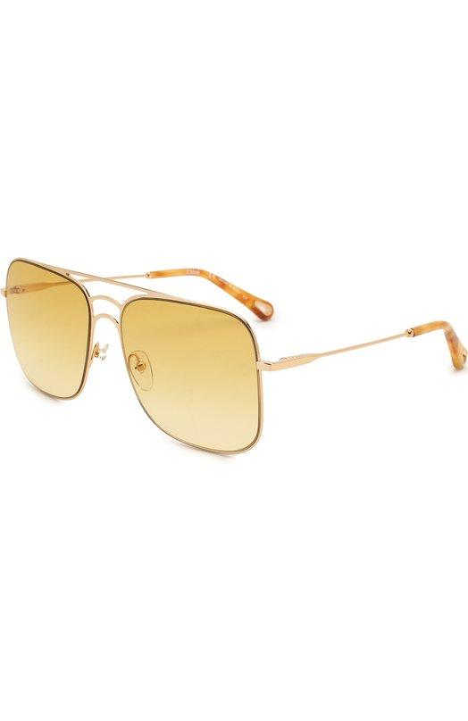 Купить Солнцезащитные очки Chloé, 140S-807, Италия, Золотой