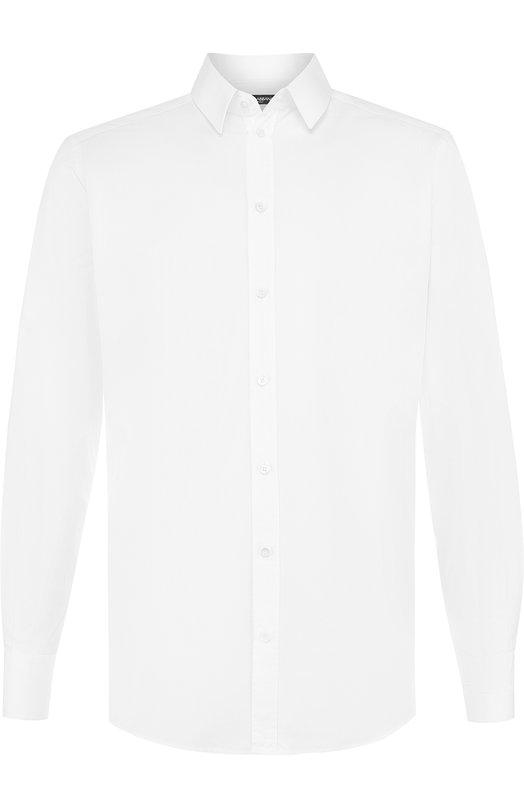 Купить Хлопковая сорочка с воротником кент Dolce & Gabbana, G5EJ1Z/FU5GK, Италия, Белый, Хлопок: 100%;
