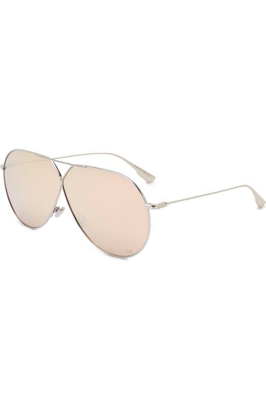 Солнцезащитные очки Dior, DI0RSTELLAIRE3 010, Италия, Серебряный  - купить