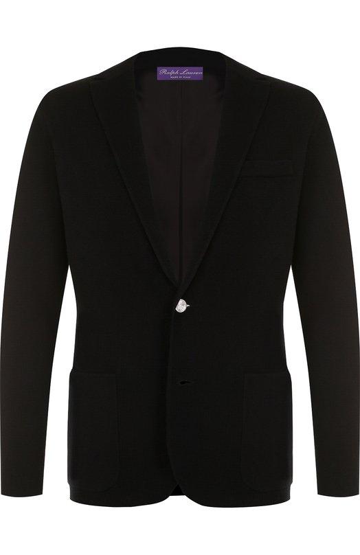 Купить Однобортный пиджак из вискозы Ralph Lauren, 790692839, Италия, Черный, Вискоза: 76%; Полиэстер: 24%;