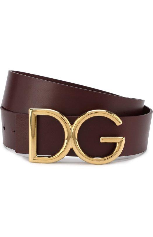 Купить Кожаный ремень с фигурной пряжкой Dolce & Gabbana, BC4246/AC493, Италия, Бордовый, Кожа: 100%;