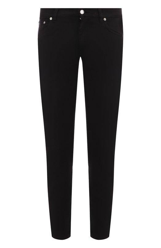 Купить Хлопковые зауженные брюки прямого кроя Dolce & Gabbana, GYD2LT/G8Z00, Италия, Черный, Хлопок: 98%; Эластан: 2%;