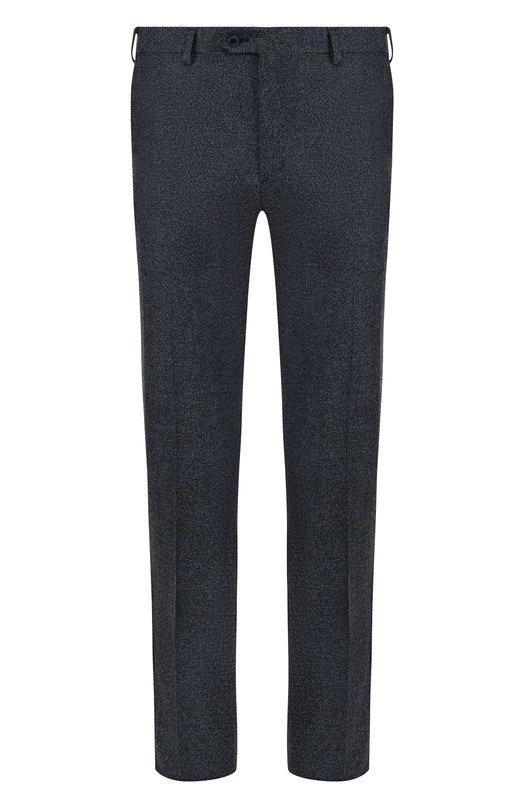 Купить Шерстяные брюки прямого кроя Brioni, RPL810/06AAF/MEGEVE, Италия, Синий, Шерсть: 100%;