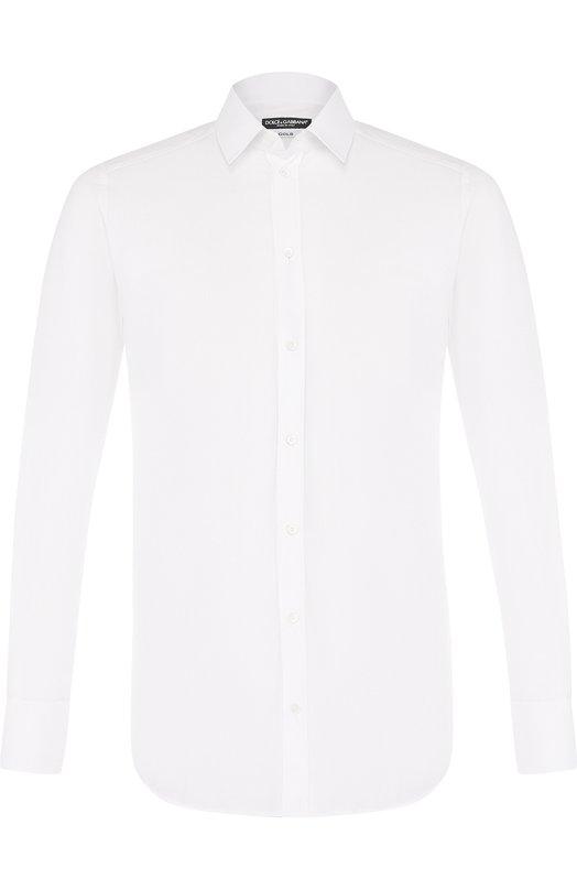 Купить Хлопковая сорочка с воротником кент Dolce & Gabbana, G5EJ0T/FJ5FN, Италия, Белый, Хлопок: 100%;