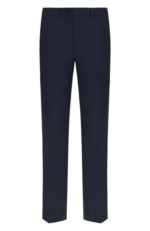 Купить Шерстяные брюки прямого кроя Brioni, RPL23Q/PZA00/M0ENA, Италия, Синий, Шерсть: 100%;
