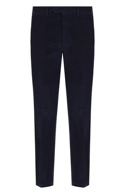 Купить Хлопковые брюки прямого кроя Brioni, RPL21J/P408Y/M0ENA, Италия, Синий, Хлопок: 100%;