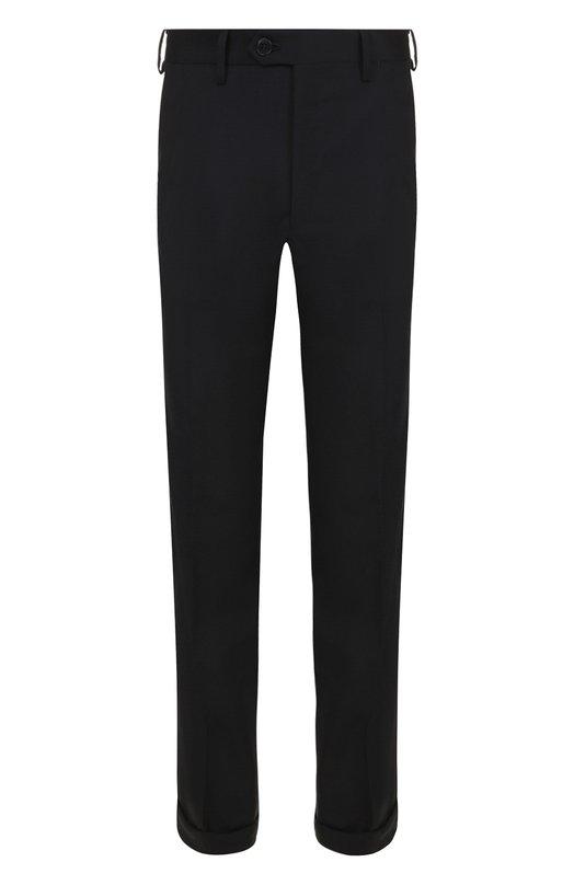 Купить Шерстяные брюки прямого кроя Brioni, RPL23Q/PZA00/M0ENA, Италия, Темно-синий, Шерсть: 100%;