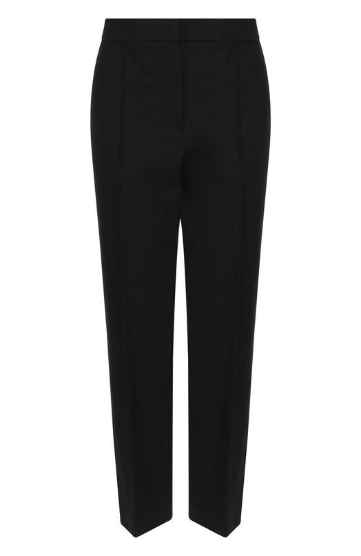 Купить Укороченные брюки с лампасами Escada Sport, 5026837, Румыния, Черный, Вискоза: 67%; Эластан: 5%; Полиамид: 28%;