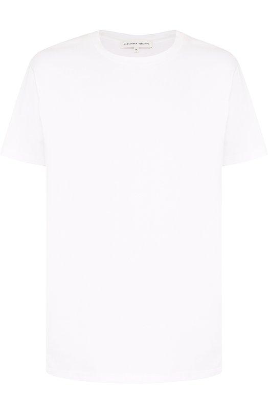 Купить Хлопковая футболка с круглым вырезом Alexander Terekhov, UMENTSH001/5007.100/DS18, Россия, Белый, Хлопок: 100%;