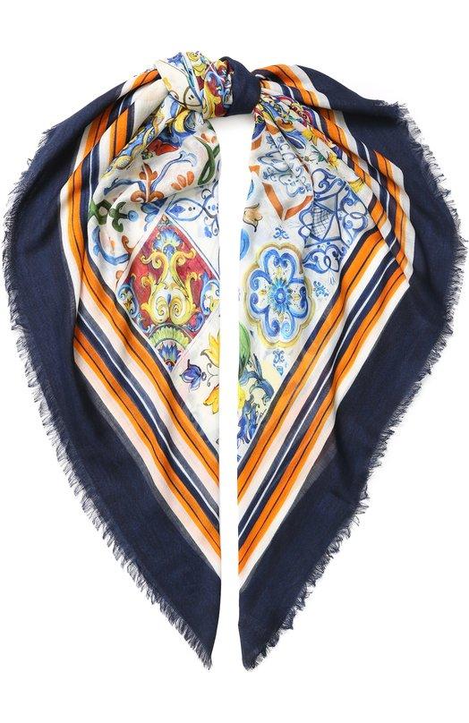 Купить Шарф из смеси кашемира и шелка Dolce & Gabbana, GQ239E/G2SBJ, Италия, Разноцветный, Кашемир: 65%; Шелк: 35%;