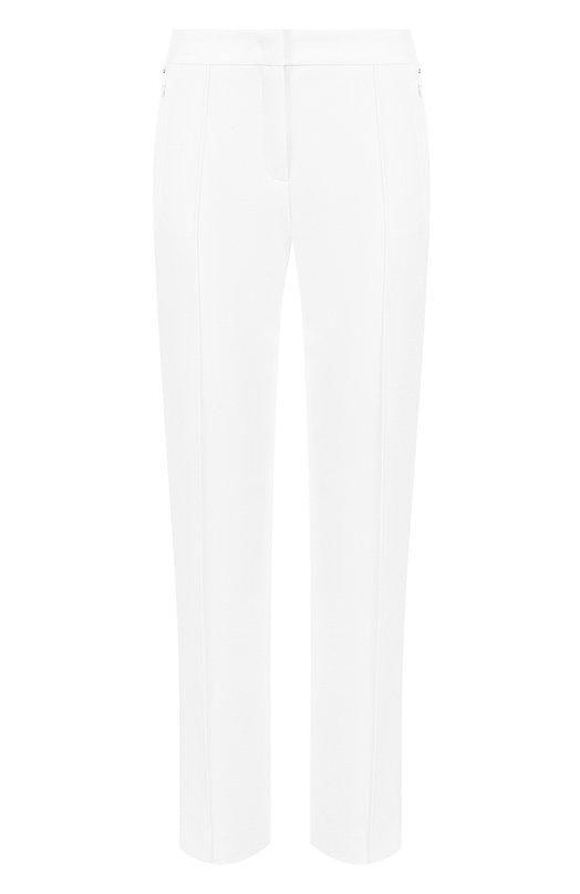 Купить Однотонные укороченные брюки со стрелками Escada, 5027535, Румыния, Белый, Полиамид: 88%; Эластан: 12%;