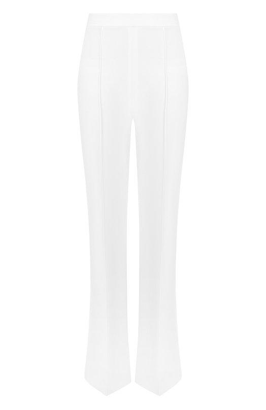 Купить Однотонные расклешенные брюки со стрелками Alice + Olivia, CC804202104, Вьетнам, Белый, Полиэстер: 100%;