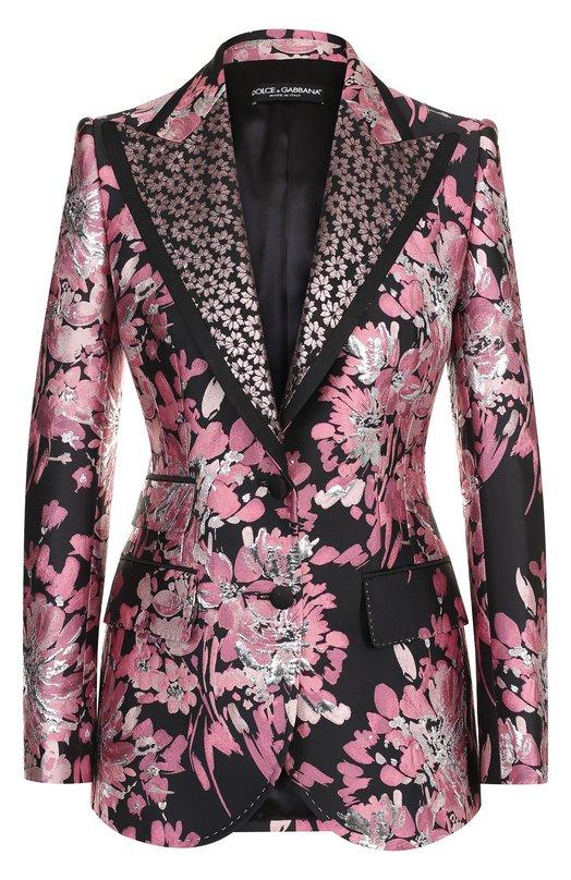 Приталенный жакет с цветочным принтом Dolce & Gabbana