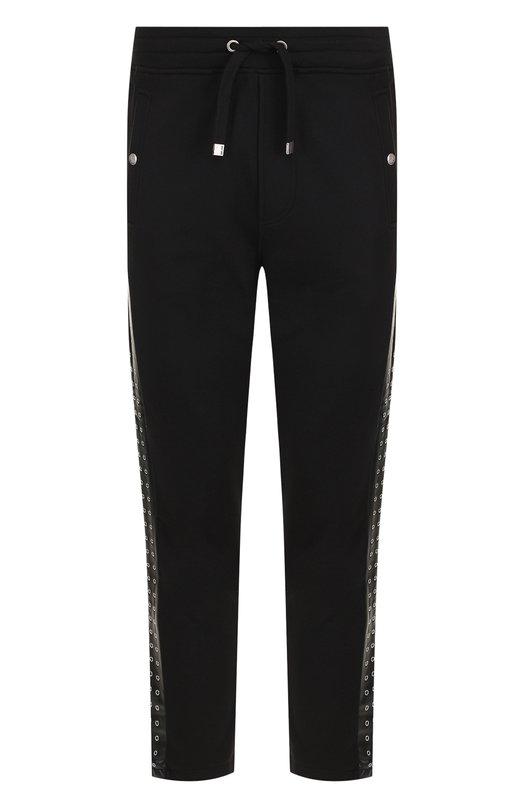 Купить Хлопковые брюки с лампасами Just Cavalli, S01KA0173/N25189, Турция, Черный, Хлопок: 100%;