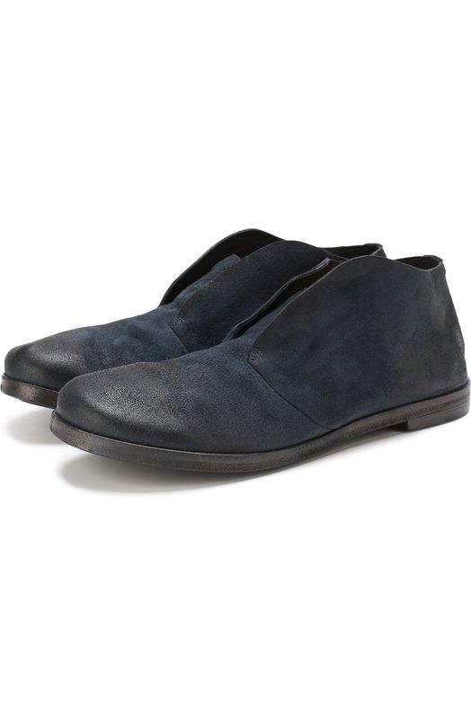 Купить Кожаные ботинки без шнуровки Marsell, MW1731/CAPR0NA R0V., Италия, Темно-синий, Подошва-резина: 70%; Подошва-кожа: 30%; Подкладка-кожа: 100%; Кожа: 100%;