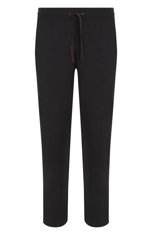Купить Шерстяные брюки прямого кроя с поясом на кулиске Loro Piana, FAI2459, Италия, Темно-серый, Шерсть: 100%;