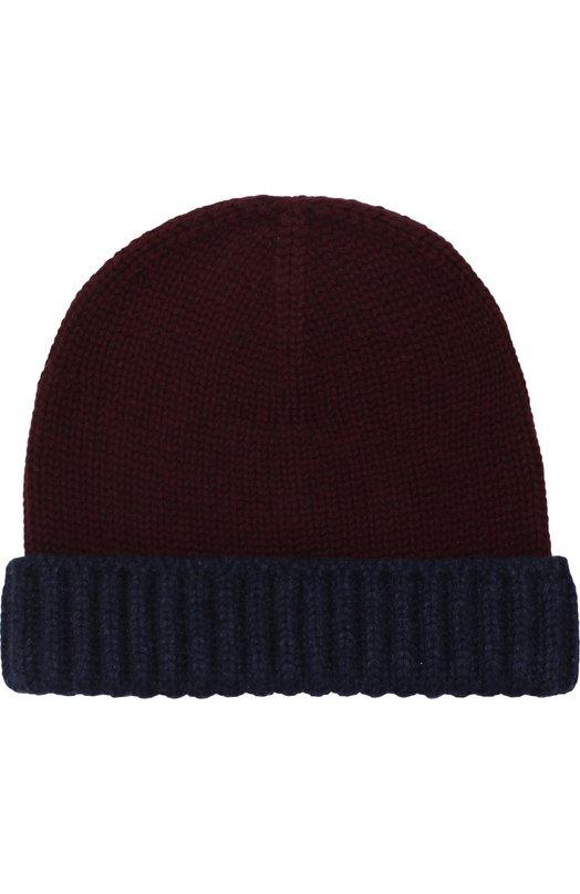 Купить Кашемировая шапка бини Loro Piana, FAF4807, Италия, Бордовый, Кашемир: 100%;