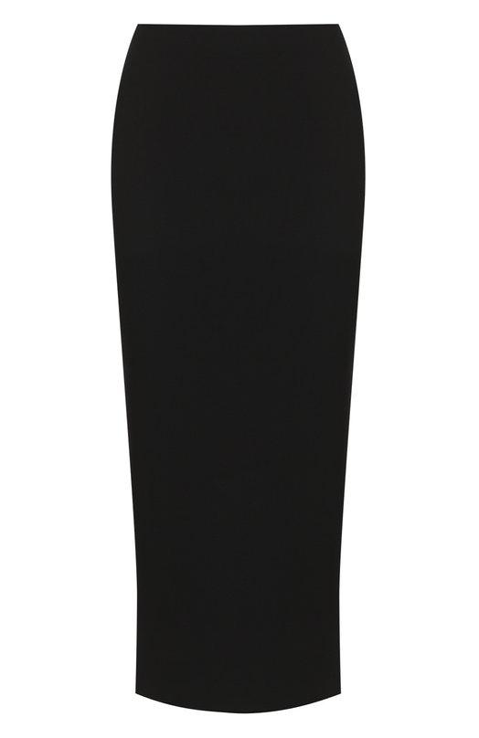 Купить Однотонная юбка-миди с разрезом M Missoni, QD3ML00521D, Румыния, Черный, Вискоза: 67%; Эластан: 5%; Полиамид: 28%;