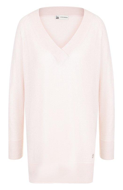 Купить Пуловер свободного кроя из смеси кашемира и шелка Colombo, MA03076/-/2-56JA, Италия, Розовый, Кашемир: 70%; Шелк: 30%;