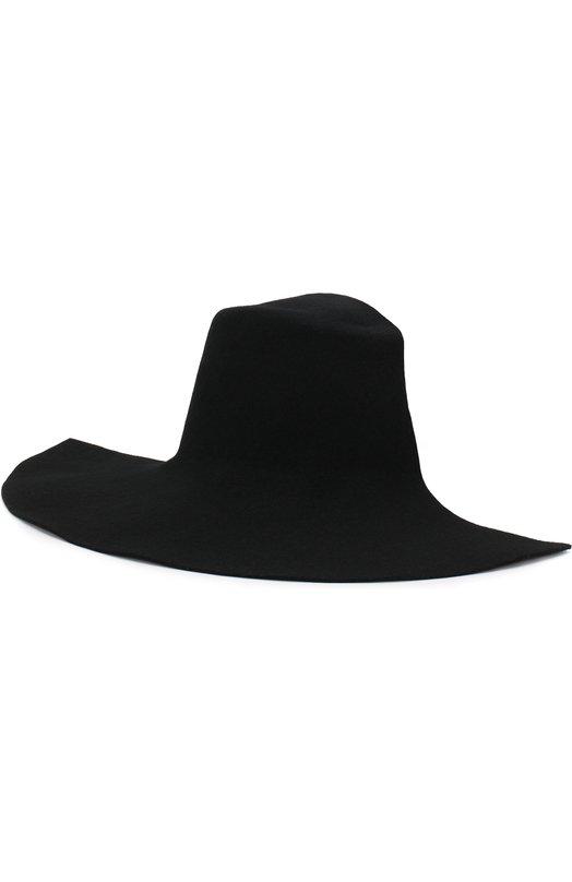 Купить Фетровая шляпа Yohji Yamamoto, FW-H07-162, Япония, Черный, Фетр/овчина/: 100%;