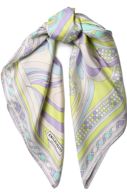 Купить Шелковый платок с принтом Emilio Pucci, 8RGB22/8RP22, Италия, Разноцветный, Шелк: 100%;