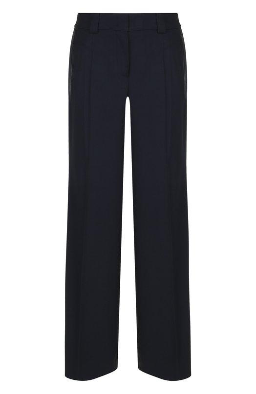 Купить Однотонные брюки свободного кроя со стрелками Windsor, 52 DH808 10005465, Польша, Темно-синий, Вискоза: 83%; Шерсть: 16%; Эластан: 1%;