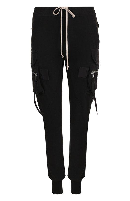 Купить Хлопковые джоггеры с накладными карманами Rick Owens, RP18F4306/BA, Италия, Черный, Хлопок: 100%;