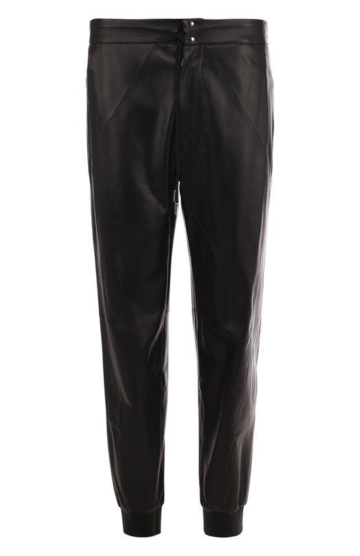 Купить Кожаные брюки с манжетами Alexander McQueen, 524668/Q5KVX, Италия, Черный, Кожа: 100%;