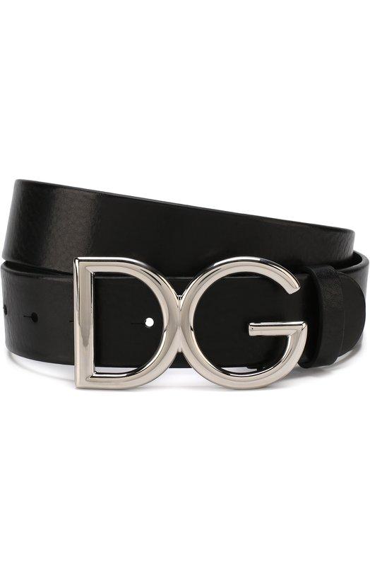 Купить Кожаный ремень с фигурной пряжкой Dolce & Gabbana, BC4245/AI894, Италия, Черный, Кожа: 100%;
