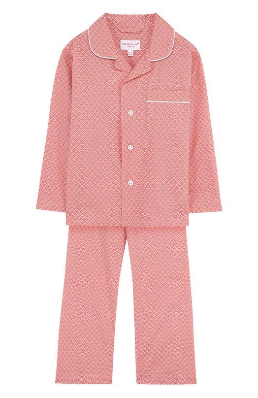 Купить Хлопковая пижама Derek Rose, 7025-NELS066/3-12, Чехия, Розовый, Хлопок: 100%;