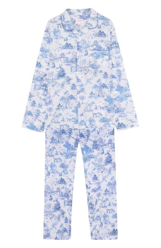 Хлопковая пижама Derek Rose, 7025-LEDB011/13-16, Чехия, Голубой, Хлопок: 100%;  - купить