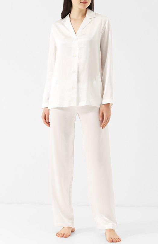 Однотонная шелковая пижама La Perla