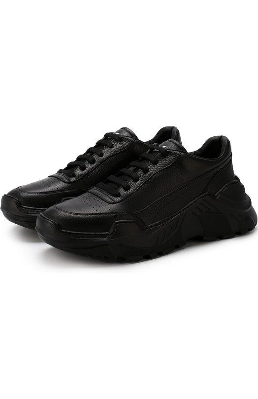 Купить Кожаные кроссовки на шнуровке Joshua Sanders, 10582/ZENITH BLACK/M, Италия, Черный, Подошва-резина: 100%; Подкладка-кожа: 100%; Кожа: 100%;