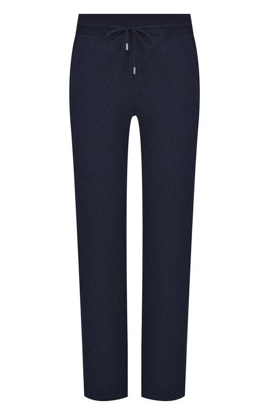 Купить Кашемировые брюки с эластичным поясом Loro Piana, FAI1960, Италия, Темно-синий, Кашемир: 100%;