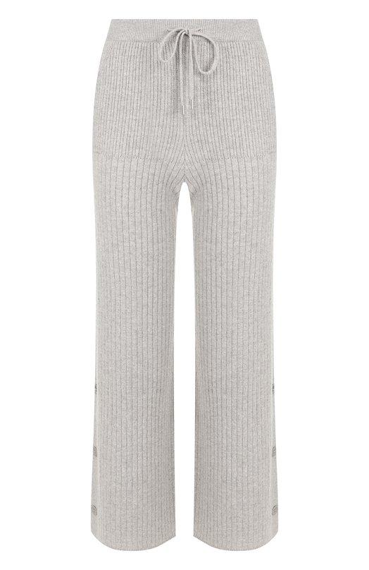 Купить Укороченные кашемировые брюки с эластичным поясом Loro Piana, FAI3147, Италия, Светло-серый, Кашемир: 100%;