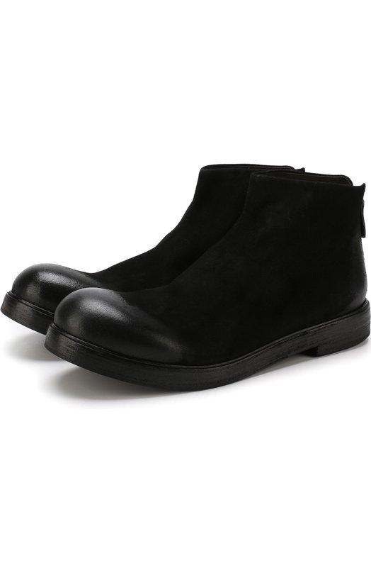 Купить Кожаные ботинки на молнии Marsell, MM1332/CAPR0NA R0V., Италия, Черный, Подошва-кожа: 100%; Подкладка-кожа: 100%; Кожа: 100%;