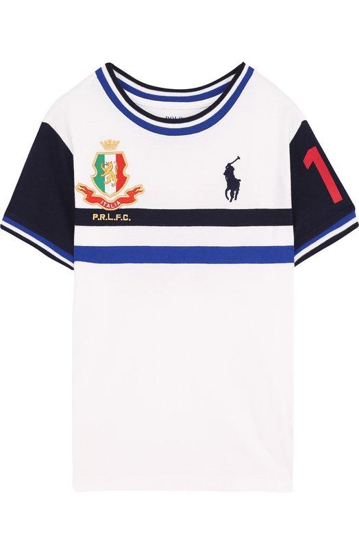 Купить Хлопковая футболка с логотипом сборной Италии Polo Ralph Lauren, 322716422, Гватемала, Белый, Хлопок: 100%;