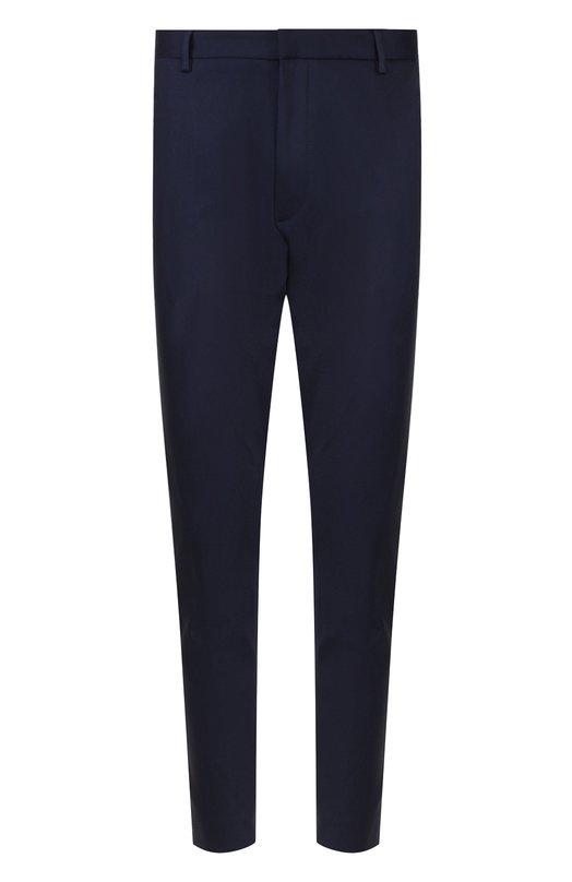Купить Хлопковые брюки прямого кроя с манжетами на молнии HUGO, 50387567, Румыния, Темно-синий, Хлопок: 70%; Полиамид: 26%;